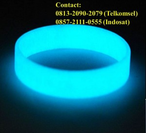 Jual Gelang Karet Glow In The Dark 005